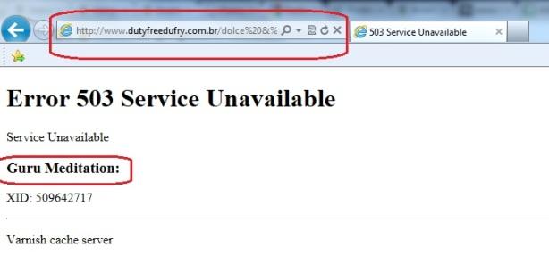 erro site duttyfree